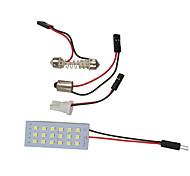 economico -otolampara 1 pz 31mm / 41mm / 36mm lampadine per auto 9 w smd 3030 720 lm 18 luci interne a led per universali tutti i modelli tutti gli anni