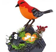 abordables -Oiseaux qui chantent Jouets électriques Thème jardin Capteur de mouvement Sons réalistes Corps d'activation Carcasse de plastique Pour Enfants Adultes Tous