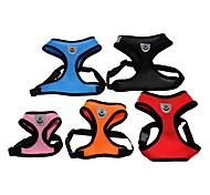 abordables -Chat Chien Harnais Harnais en maille Respirable Ajustable / Réglable Couleur Pleine Maille Nylon Noir Rouge Bleu Rose Orange