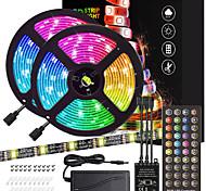 economico -ZDM® 2x5m Set luci Strisce luminose RGB 300 LED 5050 SMD 10mm 1Impostare la staffa di montaggio 1 cavi CC 1 controller chiave X 40 1 set Colori primari Natale Capodanno Impermeabile Accorciabile / 12