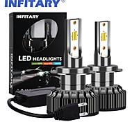 abordables -2pcs h1 / h7 / h3 / h11 / 9005/9006 ampoules de moto / voiture led phares de voiture