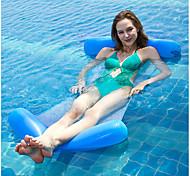abordables -Jouets Gonflables de Piscine Piscine gonflable Hamac d'eau Drifter Hamac de piscine Extérieur Portable PVC / vinyle Eté Bleu 1 pcs Unisexe Adulte
