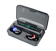 abordables -LITBest F9 Écouteurs sans fil TWS Casques oreillette bluetooth Sans Fil Stéréo Avec boîte de recharge Couplage automatique Détection automatique des oreilles Affichage d'alimentation LED pour Sport
