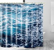 abordables -océan mer mousse numérique impression étanche tissu rideau de douche pour salle de bain décor à la maison couvert baignoire rideaux doublure comprend avec crochets