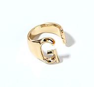 economico -Anello Oro Argento Lega Lettere dell'alfabeto 1 pc Regolabile / Per donna