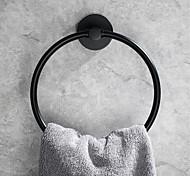 abordables -Barre porte-serviette Nouveau design contemporain Acier inoxydable Salle de Bain anneau de serviette Montage mural