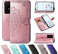 economico -telefono Custodia Per Samsung Galaxy Integrale Custodia in pelle Porta carte di credito S20 Plus A51 Galaxy A71 A portafoglio Porta-carte di credito Con supporto Floreale pelle sintetica TPU