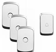 economico -cacazi a20 kit campanello di musica wireless di sicurezza domestica impermeabile 110-220 v ca 300m campanello senza fili remoto 1 pulsante 3 ricevitori