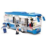 abordables -Blocs de Construction Jouet Educatif 235 pcs Bus Dessin animé compatible Carcasse de plastique Legoing Exquis Fait à la main Jouets de décompression Bricolage Bus Garçons et filles Jouet Cadeau
