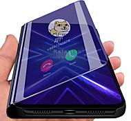 economico -telefono Custodia Per Samsung Galaxy Integrale Custodia in pelle Custodia flip S20 Ultra S10 + Galaxy A8s Con supporto A specchio Con chiusura magnetica Tinta unita pelle sintetica PC