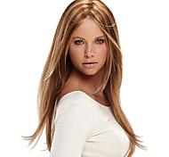 abordables -Perruque Synthétique Droit crépu Partie médiane Perruque Longue Brun claire Cheveux Synthétiques 18 pouce Femme Classique Homme Faciliter l'habillage Marron