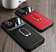 economico -telefono Custodia Per Apple Per retro Custodia in pelle iPhone 12 Pro Max 11 SE 2020 X XR XS Max 8 7 6 Resistente agli urti Con supporto Supporto ad anello Tinta unita pelle sintetica TPU
