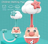 abordables -Enfants bain cochon douche électrique jouer eau bébé salle de bain baignoire équipement automatique enfants douche bain jouets douche tête robinet