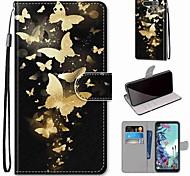 economico -telefono Custodia Per LG Integrale Custodia in pelle Porta carte di credito LG X Power LG V50 LG Stylo 4 LG Stylo 5 LG Q6 LG K40 LG G7 LG G8 LG Q60 LG K50 A portafoglio Porta-carte di credito Con