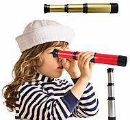 abordables -1 PCS télescope monoculaire pirate télescope de poche rétractable portable enfants jouets scientifiques éducatifs spyglass pour voyager regarder des jeux randonnée chasse argent doré