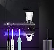 abordables -Plastique de distributeur automatique de dentifrice multifonction et kit de presse-étoupe étanche avec support de brosse à dents fixé au mur