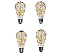 abordables -4 pcs st64 blanc chaud cuivre led guirlande lumière de vacances pour le nouvel an noël décoration de la maison guirlandes ampoule intérieure lampe de nuit