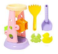 abordables -Jouets de plage Ensemble de jouets de sable de plage Jouets aquatiques 5 pcs Plastique souple Pour Enfant Tous