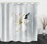 economico -tenda per doccia in tessuto impermeabile con stampa digitale a spruzzi d'acqua per arredo per la casa bagno coperta fodera per tende da bagno inclusa con ganci