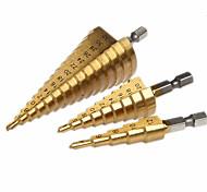 economico -punta per metallo pagoda 4-12mm 4-20mm 4-32mm punta conica punta per trapano taglierina strumento per utensili esagonali con codolo esagonale trapani con codolo trapano per metallo 3pz