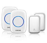 abordables -cacazi sans fil pas de batterie requise émetteur de sonnette maison intelligente appel auto-alimenté sonner la cloche us ue uk au plug récepteur