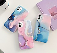 abordables -téléphone Coque Pour Apple Coque Arriere iPhone 11 iPhone XR iPhone 11 Pro iPhone 11 Pro Max iPhone XS Max iphone 7/8 iphone 7Plus / 8Plus iphone X / XS iPhone SE 2020 IMD Dépoli Marbre TPU
