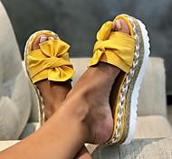 economico -Per donna Pantofole e infradito Pantofole da esterno Piatto Occhio di pernice Quotidiano PU Bianco Nero Giallo