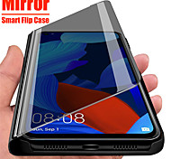 economico -telefono Custodia Per Samsung Galaxy Integrale Custodia flip A91 / M80S A51 Galaxy A71 A specchio Con chiusura magnetica Auto sospendione / riattivazione Tinta unita pelle sintetica PC