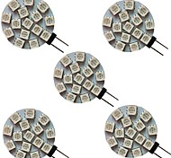 abordables -5 pièces 3 W LED à Double Broches 300 lm G4 15 Perles LED SMD 5050 Blanc Chaud Blanc Froid Blanc Naturel 9-30 V