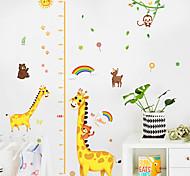 abordables -Enfants hauteur graphique sticker mural décor bande dessinée girafe règle de la hauteur stickers muraux décoration de la maison décoration murale art autocollant affiche 150x78 cm