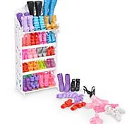 abordables -Chaussures de poupée Fil synthétique Polyester PVC 10 Pairs Pour poupée de 11,5 pouces Jouet fait main pour les cadeaux d'anniversaire de fille Étagère à chaussures non incluse / Enfants