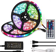 economico -ZDM® 2x5m Set luci 300 LED 5050 SMD 10mm 1 telecomando da 44Keys Adattatore 12V4A 1 set Colori primari Halloween Capodanno Accorciabile Collagabile Auto-adesivo 100-240 V