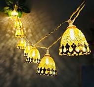 abordables -3m 20led pin cone gland led guirlandes lumineuses à piles lumière de fée noël mariage garden party famille fête salle décoration pendentif sans batterie