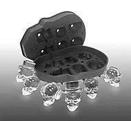 abordables -crâne machine à glaçons moule os boule plateau gâteau bonbons outils cuisine gadgets 6 grille 3d silicone whisky boule de glace moule