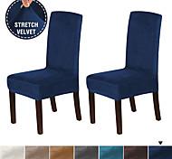 abordables -Housse de chaise Couleur Pleine Velventine Flanelle de Laine Literie