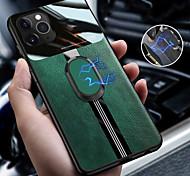 abordables -téléphone Coque Pour Apple Coque Arriere iPhone 11 Pro Max SE 2020 X XR XS Max 8 7 6 Anneau de Maintien Lignes / Vagues faux cuir