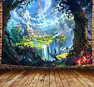 abordables -tapisserie murale art décor couverture rideau pique-nique nappe suspendu maison chambre salon dortoir décoration dessin animé conte de fées château forrest montagne