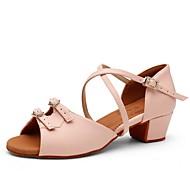 abordables -Femme Chaussures Modernes Talon Talon épais Amande Rose Boucle