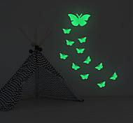 abordables -autocollants lumineux papillon décoration de fond de la maison autocollants amovibles 18 * 26cm