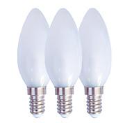 abordables -3 pièces 2.5 W Ampoules Bougies LED 130 lm E14 E27 C35 25 Perles LED SMD 3014 Blanc Chaud Blanc 220 V
