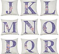 economico -Fodera per cuscino in lino 9 pezzi, carattere floreale inglese classico classico quadrato tradizionale j-r