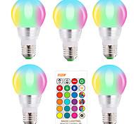 economico -5 pz e27 e14 rgb lampadina a led 5w dimmerabile 16 cambia colore lampadina magica ac 220v 110v rgbw bianco ir luce notturna a distanza