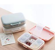 abordables -portable 6 compartiments petite médecine boîte mini stockage scellé portable voyage pilule boîte