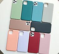 economico -telefono Custodia Per Apple Per retro Silicone Custodia in silicone iPhone 11 Pro Max SE 2020 X XR XS Max 8 7 6 Resistente agli urti Effetto ghiaccio Tinta unita TPU Silicone