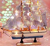 abordables -Modèle de voilier en bois décor à la maison de style méditerranéen accessoires de décoration de la maison décoration créative décoration de la chambre cadeau d'anniversaire