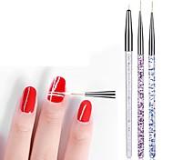 economico -3pcs matita per unghie penne per unghie sculture in pittura a colori soggiorno filo uncinetto penna superfine