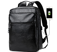 economico -borsa da viaggio di grande capacità con porta di ricarica USB zaini da viaggio bookbag per laptop da 18,3 pollici in pelle di poliuretano zaini per esterno nuovi