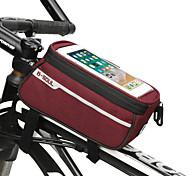economico -Bag Cell Phone Sacca da manubrio bici 6.8 pollice Ciclismo per Nero Blu Rosso Bicicletta