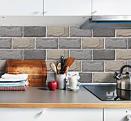 abordables -20x10 cm x 9 pcs pierre texture stickers muraux rétro étanche à l'huile étanche carrelage autocollant pour cuisine salle de bain sol mur maison décoration