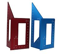 economico -righello scribing multifunzione in lega di alluminio scribing 3d angolo mitra marcatura t righello layout quadrato 45/90 gradi righello - blu